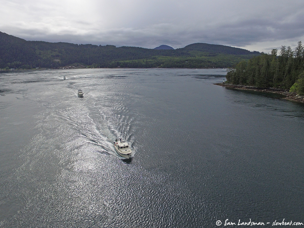 Safe Harbour leads flotilla boats through Gillard Pass